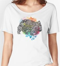 Wombat with Dododoodles and Watercolour Women's Relaxed Fit T-Shirt