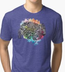 Wombat with Dododoodles and Watercolour Tri-blend T-Shirt