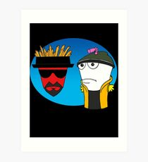 Aqua Teen Breaking Bad Art Print