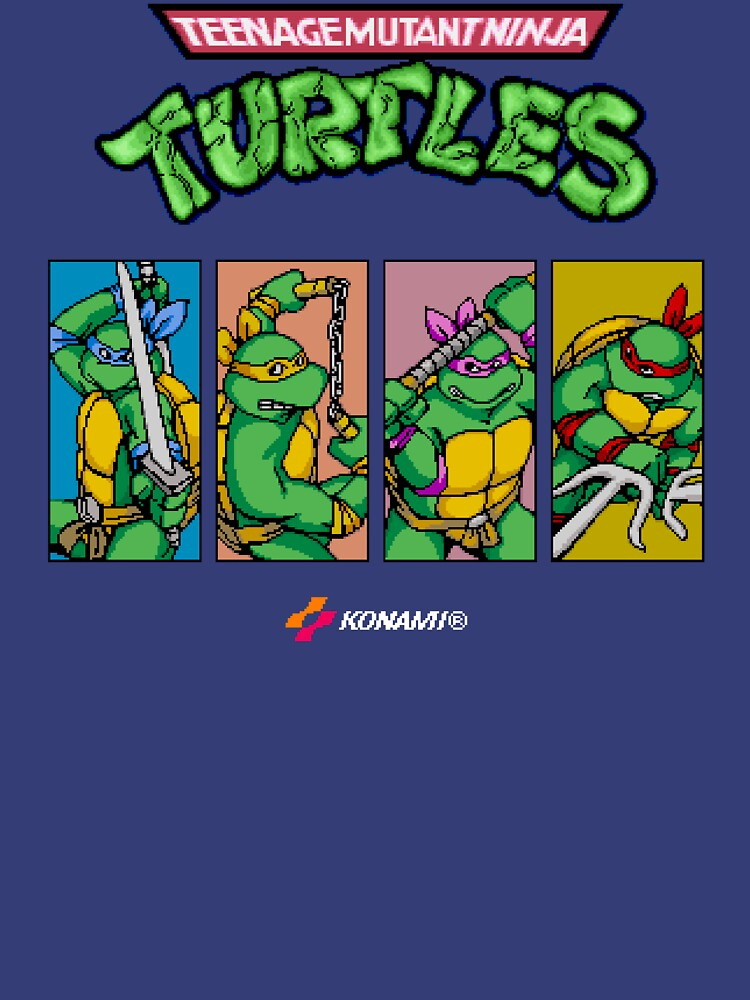 Quot Teenage Mutant Ninja Turtles 80s Arcade Game Quot T Shirt By