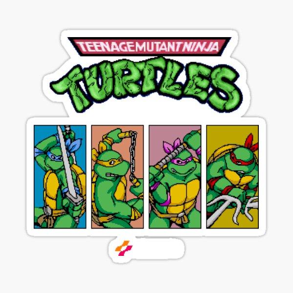 Teenage Mutant Ninja Turtles 80er Arcade-Spiel Sticker