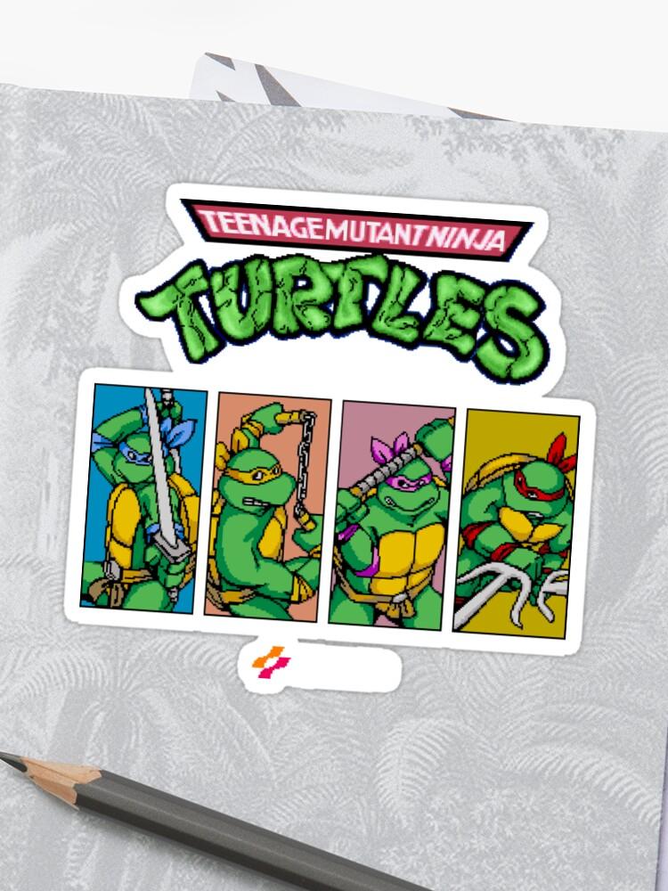 Teenage Mutant Ninja Turtles 80s Arcade Game | Sticker