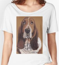 Basset Hound Vignette Women's Relaxed Fit T-Shirt