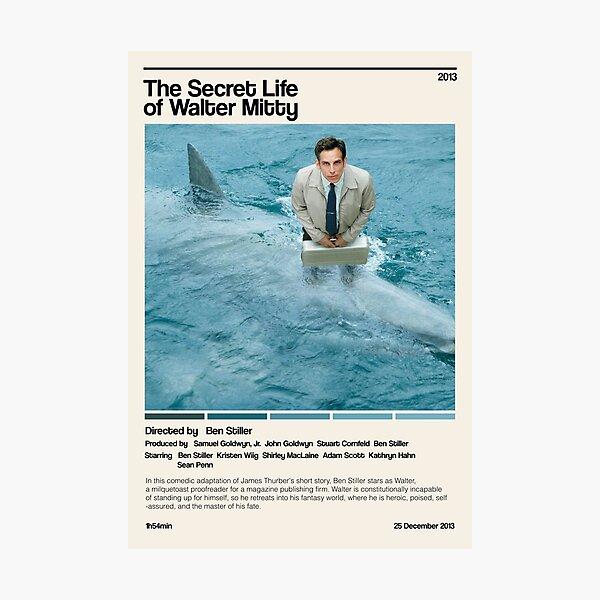 The Secret Life of Walter Mitty (2013) minimalist movie Photographic Print