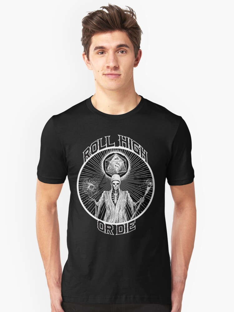 D20 Reaper - Roll High or Die d&d - Dungeons & Dragons Unisex T-Shirt Front