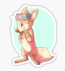 Flower Crown Fox Sticker