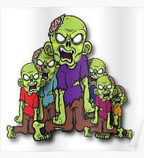 A group of Zombies Poster