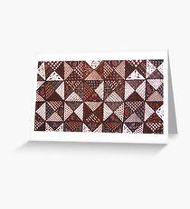 Triangle Box Batik Greeting Card