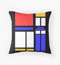 Color Block TARDIS Throw Pillow