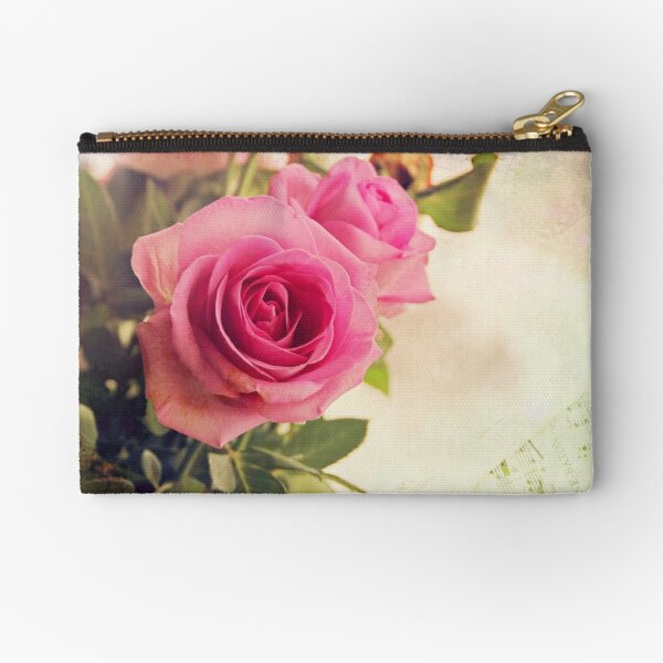 Valentine roses Zipper Pouch