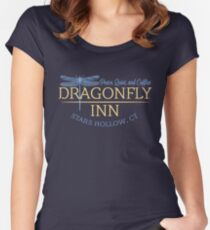dragonfly inn Women's Fitted Scoop T-Shirt
