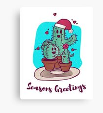 Cactus Holiday Party Canvas Print
