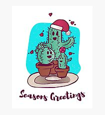 Cactus Holiday Party Photographic Print