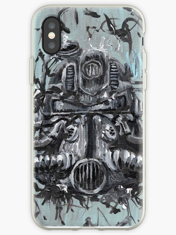 T51 Power Armor Helmet Iphone Cases Covers By John Henderson
