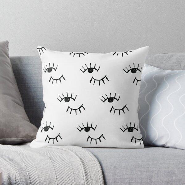 Handrawn Minimalist Eyes   Trendy/Hipster/Tumblr Meme Throw Pillow