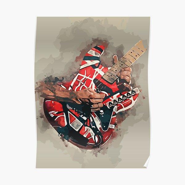 Kultige Gitarre von Eddie Van Halen Poster