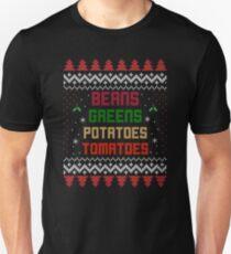 Beans, Greens, Potatoes, Tomatoes Thanksgiving T-Shirt