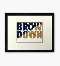 Brow Down (Blue/Gold) Framed Print