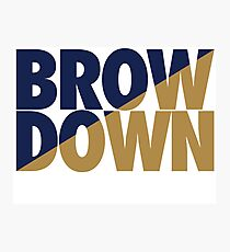 Brow Down (Blue/Gold) Photographic Print
