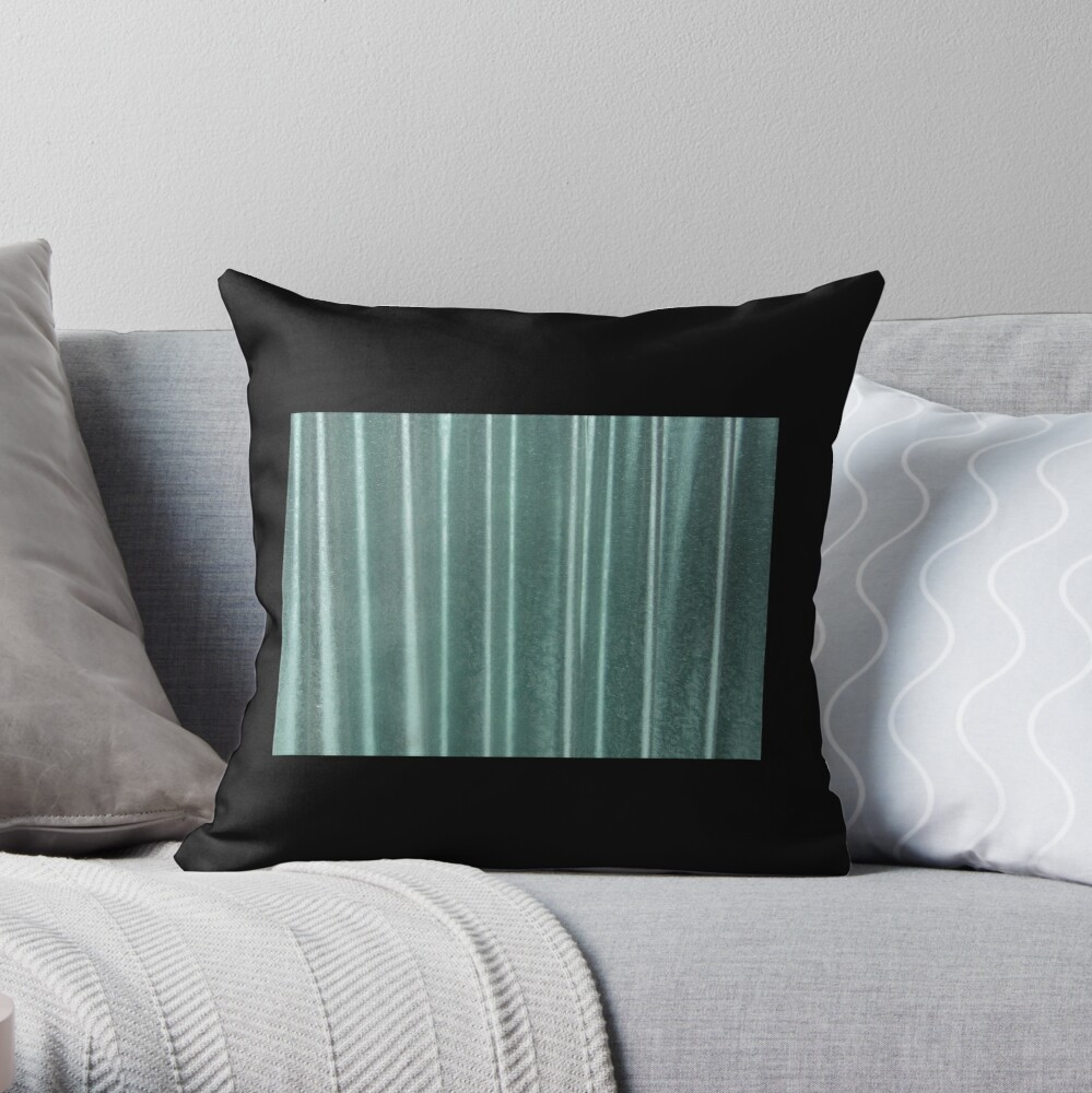 Living in Green Throw Pillow