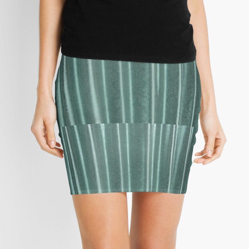 Living in Green Mini Skirt