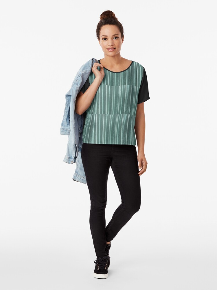 Alternate view of Living in Green Chiffon Top