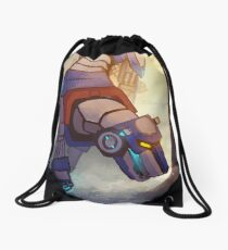 Blue and Her Paladin Drawstring Bag