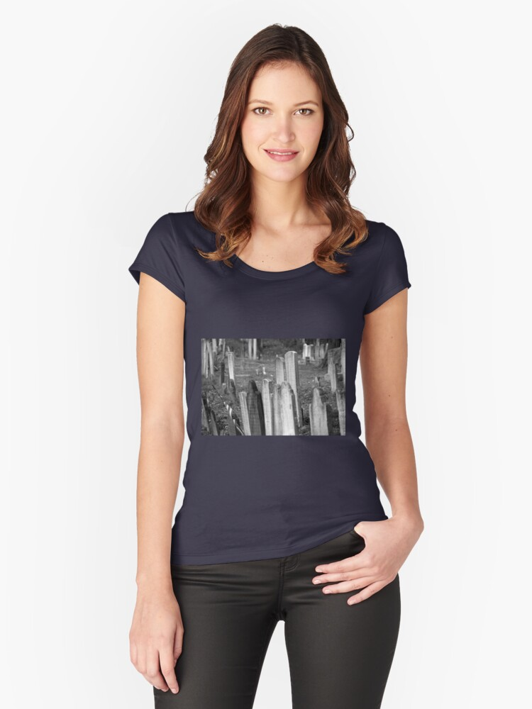 Old Church Yard Women's Fitted Scoop T-Shirt Front