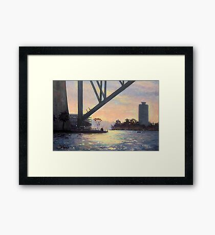 Under the Bridge, Sydney Framed Print