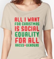All I Want For Christmas Women's Relaxed Fit T-Shirt