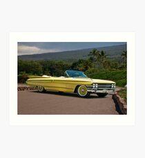 1961 Cadillac Series 62 Convertible Art Print
