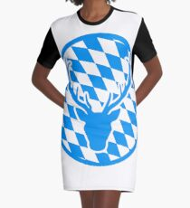 deer horns oktoberfest text lettering shirt cool design Graphic T-Shirt Dress