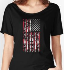 Never Disarm America Gun T-Shirt Right To Bear Arms USA Tee Women's Relaxed Fit T-Shirt