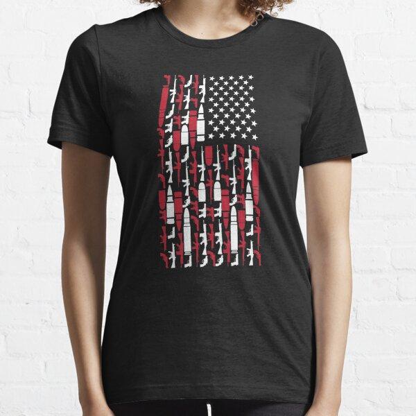 Never Disarm America Gun T-Shirt Right To Bear Arms USA Tee Essential T-Shirt