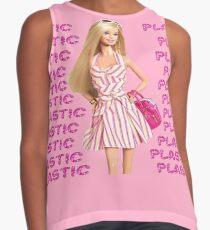 """Plastic"" Glitter Pink Pastel Contrast Tank"