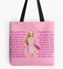 """Plastic"" Glitter Pink Pastel Tote Bag"