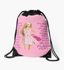 """Plastic"" Glitter Pink Pastel Drawstring Bag"