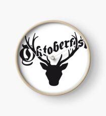 deer horns oktoberfest silhouette black shirt cool design Clock