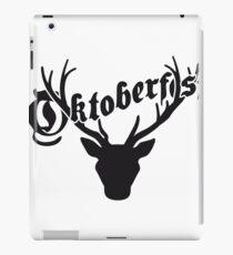 deer horns oktoberfest silhouette black shirt cool design iPad Case/Skin