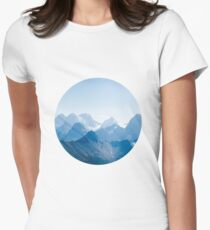 Mountains in Blue Women's Fitted T-Shirt