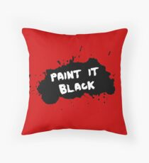 a3492f54bb349f The Rolling Stones - Paint it Black Throw Pillow