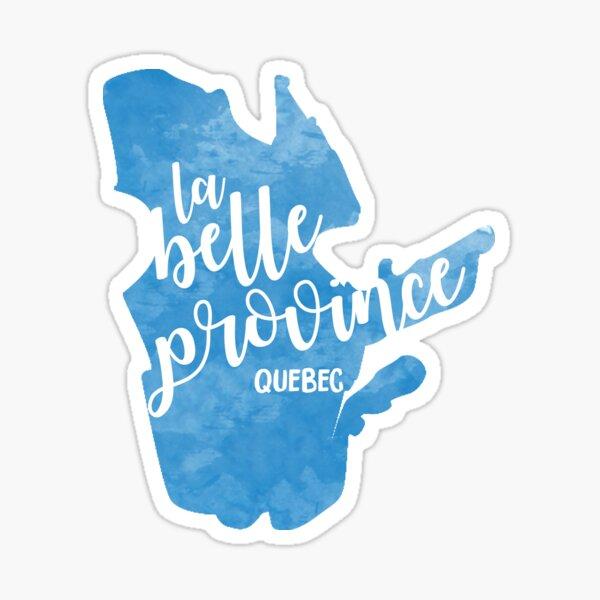 Quebec - la belle province Sticker