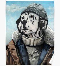 SeaDog - anthropomorphic dog portrait Poster