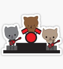 Kitty Cat Kawaii Band Sticker