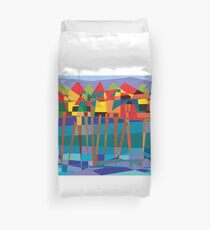 Habitat-Houses on Stilts Duvet Cover