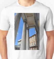 Classical ionic temple from Genova, Italy T-Shirt