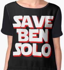 Save Ben Solo - alt Chiffon Top
