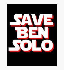 Save Ben Solo - alt Photographic Print