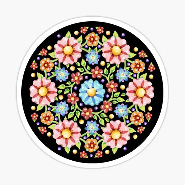 Millefiori Floral Flower Crown Sticker