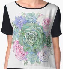Succulent Bouquet Women's Chiffon Top